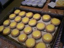 Freshly baked egg tarts