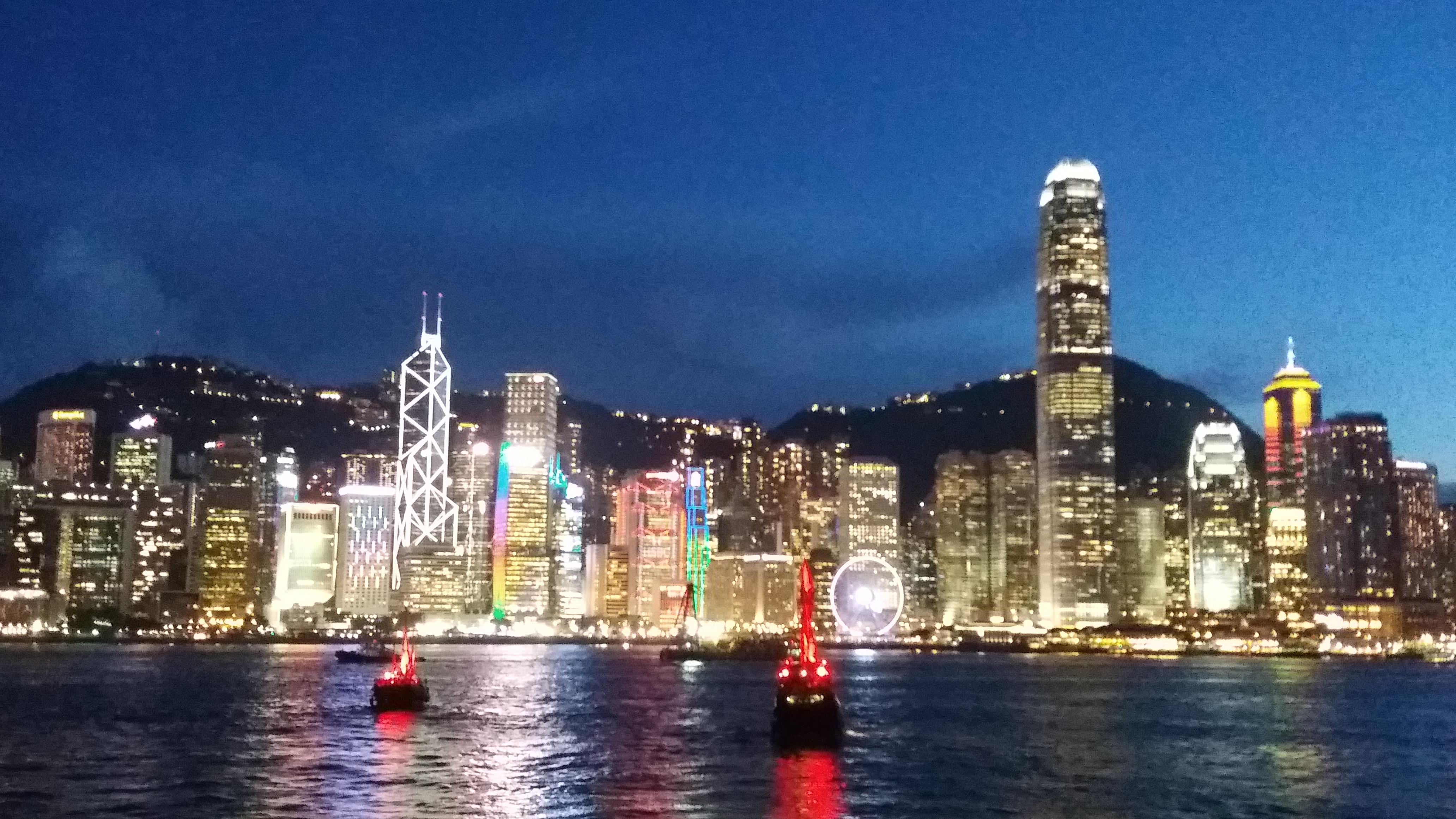 Hong Kong Skyline: From Sunset to Evening